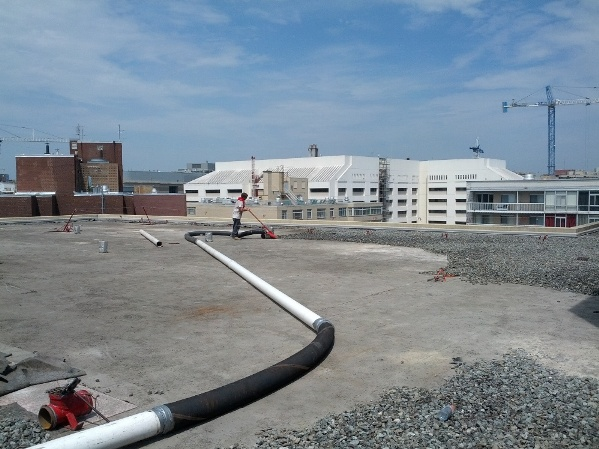 Potomac Plaza Roof Work