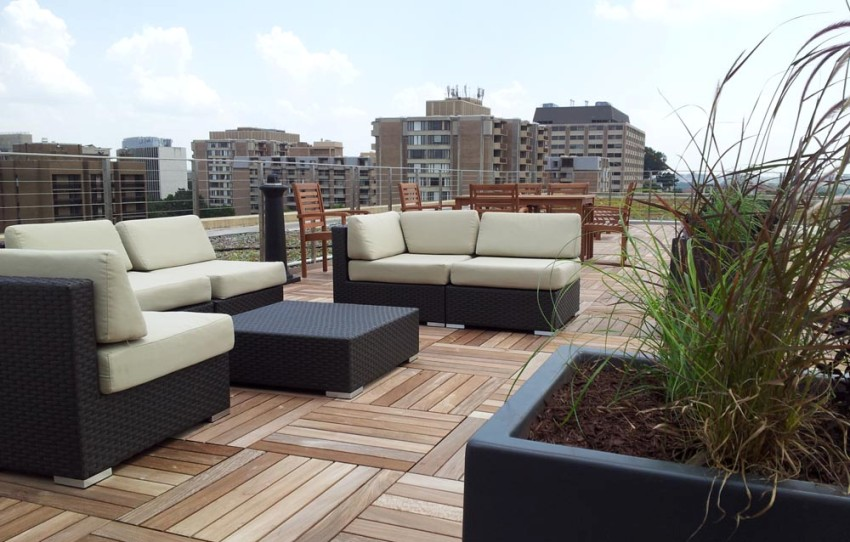 Watch the green roof grow from the renovated roof terrace.