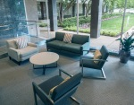 Seating are in the southern part of the PPAC lobby.