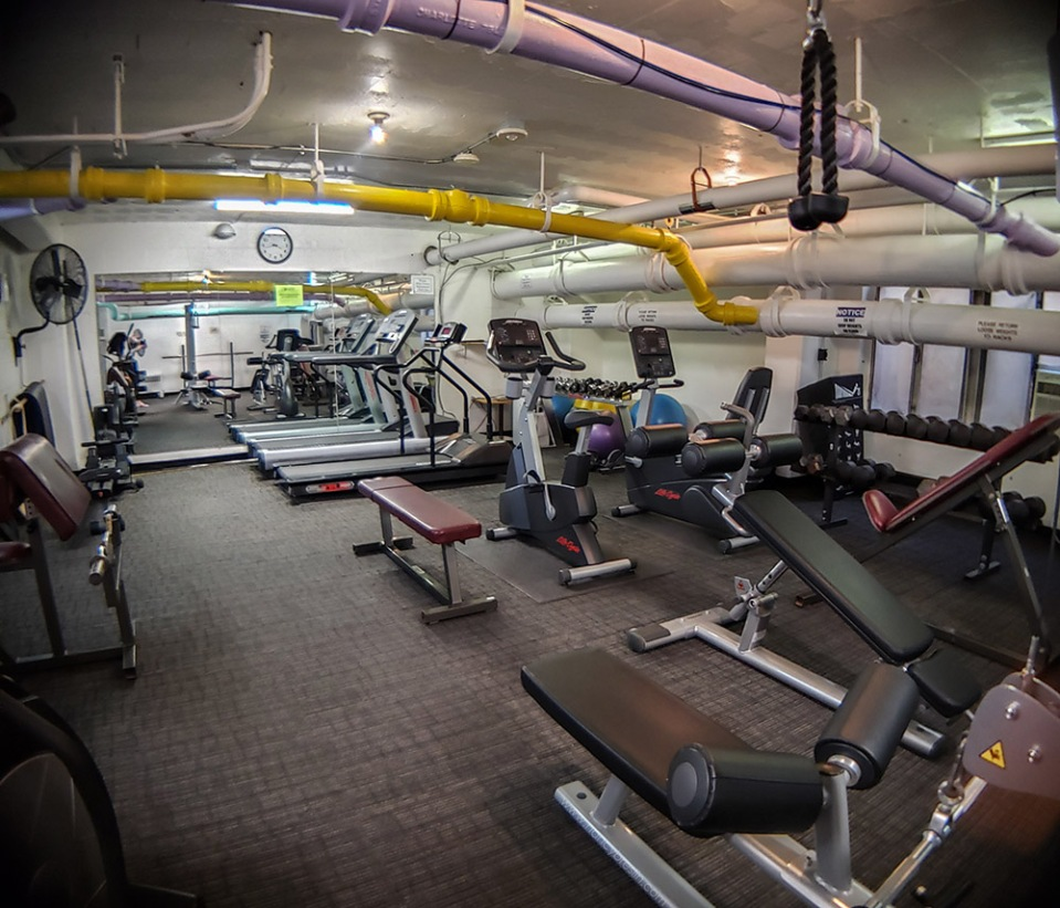 Gym for building residents.